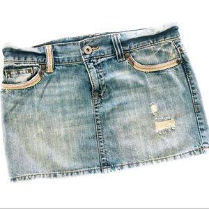ON Denim Skirt 🌈 Rainbow 🌈 Embroidered Pockets